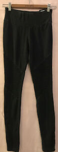 S COTTON ON Full Length Ribbed Distressed Faded Look Thick Waistband Leggings