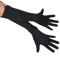 Childrens Long Black Gloves Elbow Length Costume Opera Girls Kids Childs Fancy