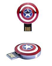 1pc 32GB Captain America Shield Super Hero USB Flash Thumb Drive USA Shipper