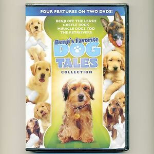4 family PG dog movies, new DVDs Benji Castle Rock, Miracle Dogs Too, Retrievers