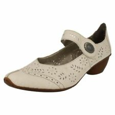 Scarpe da donna beigi marca Rieker tacco basso ( 1,3-3,8 cm )