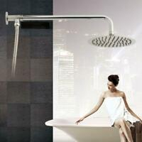 Wall Mount Shower Head Extension Pipe Long Stainless Arm Steel Bathroom A8F7
