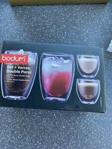 Bodum 4 Pavina Double Wall Glass Set