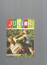 Junior Un journal pour la jeunesse N° 11 Novembre 1958 REF E26