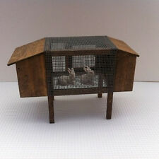 Quality Rabbit Hut /  Hutch & Rabbits Dolls House Miniature 1.12th scale