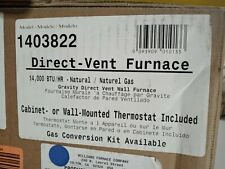 Williams 1403822 Direct Vent 14,000 BTUH 65% AFUE Natural Gas