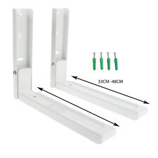2 x White Microwave Wall Mounting Extendable Arm Brackets For Morphy Richards