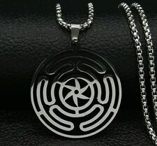 Hekate Wheel Strophalos Hecate Magic Symbol Necklace Pendant Stainless Steel