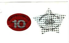 Nice Set Of 2 Production Midwest Monterey Coal Co. Coal Mining Stickers # 1527