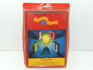 NEW Vintage Speak & Spell Cartridge VOWEL POWER (Texas Instruments, 1987) NRFP