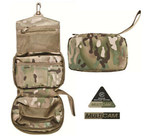 Mens British Army Military Hanging Wash Shave Toilet Travel Bag Kit Roll Camo