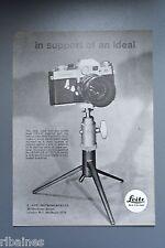 R&L Ex-Mag Advert: Leicaflex Camera, Leitz Tripod / Yashica Camera and Lens