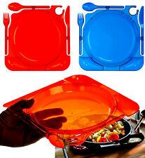 Brandsseller Einweggeschirr Set All in One - Teller/Besteck/Dippschalen Plastik