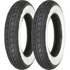 Shinko SR550 Scooter Whitewall Tyre Pair 350-10 & 350-10 VESPA LAMBRETTA PX