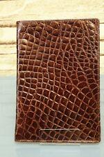 AUSWEIS-ETUI KRALLE - Echtes Kroko Leder! (IRV) NEU Wallet crocodile NEW 912