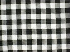 BLACK GINGHAM CHECK KITCHEN PATIO DINE BBQ OILCLOTH VINYL TABLECLOTH 48x48 NEW