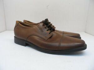 Clarks Men's Tilden Cap Casual Dress Shoes Dark Tan Leather Mismates 9.5M & 10M