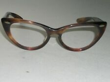 1960's LADIES 48[]16 VINTAGE BAUSCH & LOMB THICK TORTOISE CATS EYE FRAMES ONLY