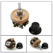 High Power Wirewound Potentiometer Rheostat Variable Resistor 25W 100 OHM New