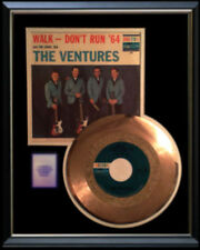 The Ventures Walk Don'T Run Rare Gold Record Disc & 45 Rpm Sleeve Original !