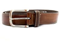 Vintage Handmade Mens Real Leather Belt Brown Size 38