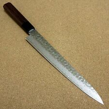 "Japanese Kitchen Sujihiki Slicing Knife 240mm 9"" Damascus 45 Layers From JAPAN"