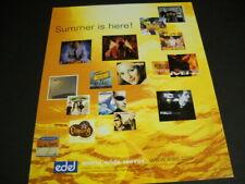 SUMMER 2000 Promo Poster Ad SCOOTER Baha Men 2Be3 BLUMCHEN Boyz N Gyrlz ATB more