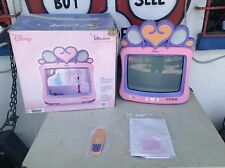 "DISNEY PRINCESS TV 13"" DT1350-P + REMOTE, SPEAKERS, INSTRUCTIONS, & ORIGINAL BOX"