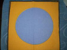 Vintage LARGE BLUE SPOT FABRIC PANEL (31cm x 31cm)