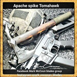 HAND FORGED APACHE SPIKE TOMAHAWK BY MARK MCCOUN USA