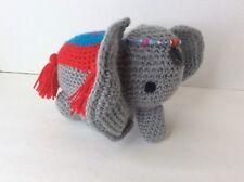 Crochet Handmade Elephant 6in Plush Stuffed Toy Animal Nursery Decor Baby Shower