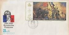 Enveloppe  FDC  1er  Jour  ARGENTINE  Bicentenaire  Révolution  Française  1989