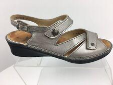 Finn Comfort Silver Slingback Adjustable Strap Sandals Women's Size UK 7 US 9.5
