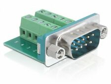 delock® sub-d-stecker 9-pol an terminalblock 10-pin test-adapter-terminal rs232