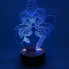 3D Optical Illusion Versatile Spider Man Color Changing Lamp With Remote Control