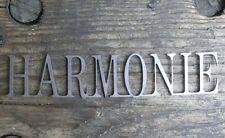 Schriftzug Harmonie aus Metall- Shabby Chic als Geschenk für die Ewigkeit