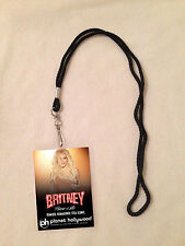 BRITNEY SPEARS PIECE OF ME VIP ALL ACCESS BACKSTAGE PASS & LANYARD MEET & GREET