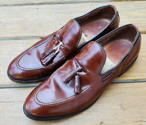Allen Edmonds 8753 Saratoga Men's Burgundy Leather Tassel Dress Loafers 10.5 B