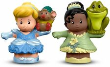 Fisher-Price Little People Disney Princess Cinderella & Tiana Figures * NEW