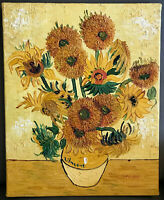 Sunflowers Vincent van Gogh, Oil Painting Study~Signed Facs of National Gallery