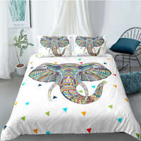 Great Colorful Elephant Trunk 3D Quilt Duvet Doona Cover Set Pillow case Print