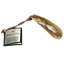 """Abbeyhorn Flat Shoehorn With Leather Thong 4"""" in Gift Box"""