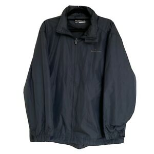 Dunlop Golf Men's Navy Jacket Size Small Water Resistant Zip Up + Hood Adj Cuff