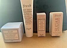Deluxe Travel FRESH Soy Face Cleanser, Face Polish, Face Oil and Sugar Lip--NEW