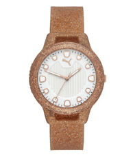 PUMA Women's Reset Three-Hand Rose Gold Silicone Watch!! Nwt!!