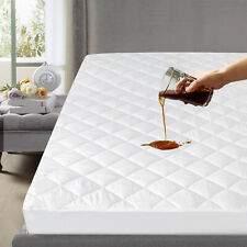 Waterproof Quilted Mattress Cover Pad Protector All Sizes Absorbent Topper
