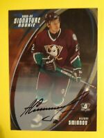 2002-03 IN THE ALEXEI SMIRNOV (ROOKIE)SIGNATURE SERIES AUTOGRAPHED CARD