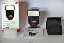 Canon Speedlite 430EX Flash with stand, case, diffuser, manual. Very Good Cond