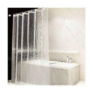 OTraki Clear Long Shower Curtain 72 x 78 inch 3D EVA Transparent Bath Curtain...