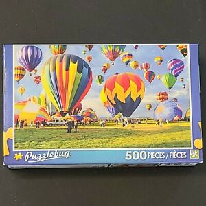 New Puzzlebug 500 Piece Puzzle - Balloon Take-off Age 8+, LPF Hot Air Balloons